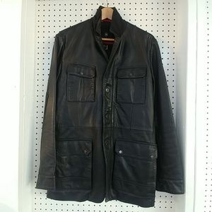 Victorinox Elm black leather jacket US size 38